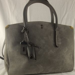 Coach Grey Suede Cooper Carryall